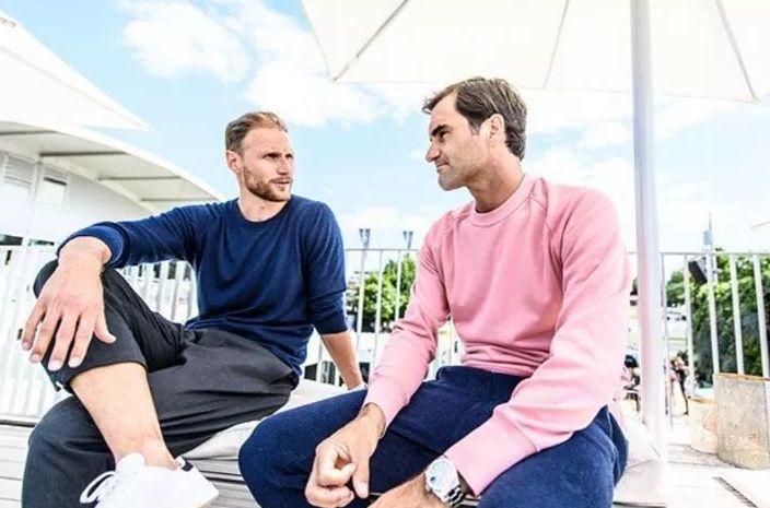 Benedikt Howedes e Roger Federer