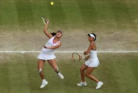 Nella foto Shuai Peng e Su-Wei Hsieh vincitrici a Wimbledon 2013 in doppio