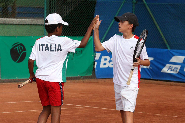 Yannik Ngantcha, umbro classe 2007, ha vinto singolare e doppio nel successo dell'Italia contro l'Ungheria - Foto Alvaro Maffeis