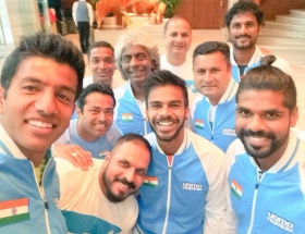 La squadra indiana di Davis Cup