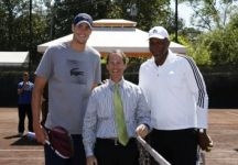 John Isner gioca un tie break a Houston con la leggenda dell'NBA Clyde Drexler