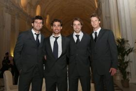 Il quartetto azzurro di Davis Cup - Foto Costantini