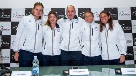 La squadra italiana di Fed Cup - Foto Coletta
