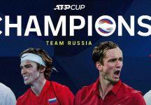 ATP Cup: La Russia vince il torneo. Battuta l'Italia per 2 a 0