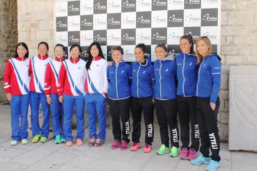 Le squadre di Italia e China Taiwan