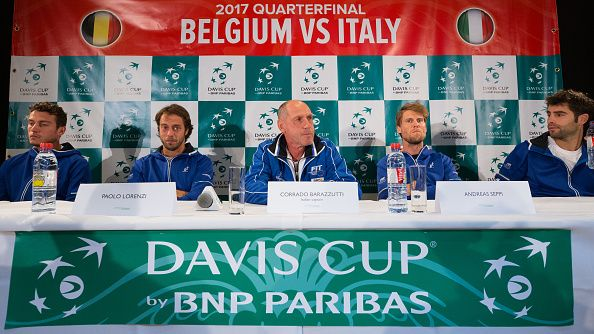 La squadra italiana di Davis Cup