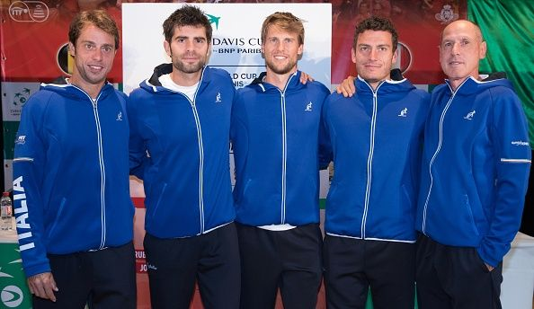 La squadra italiana di Davis Cup - Foto Getty Images