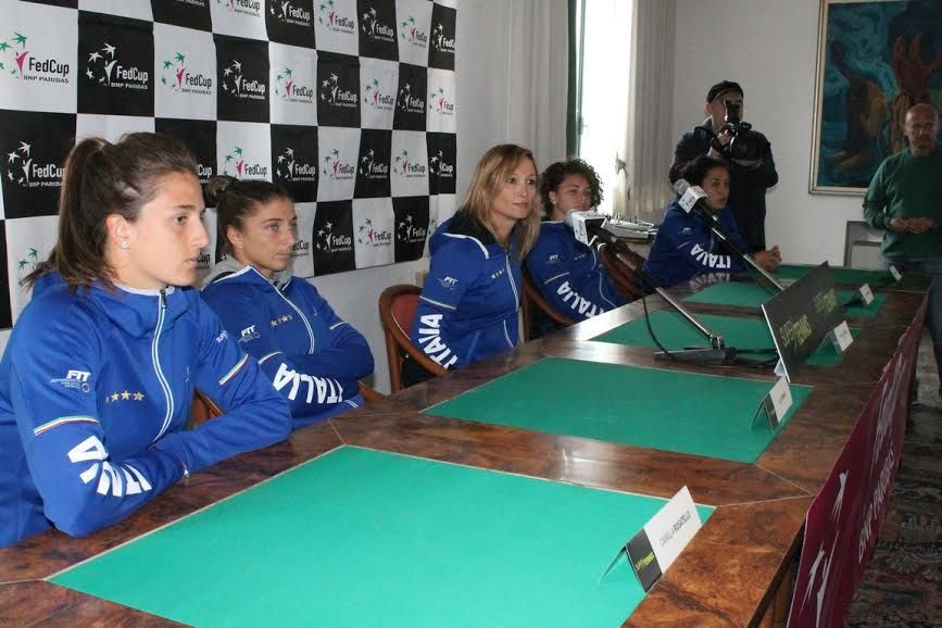 Fed Cup: Spareggio World Group 2. Italia vs China Tapei. In campo Trevisan e Errani