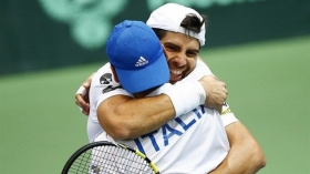 Fabio Fognini e Simone Bolelli decisivi per la permanenza nel World Group
