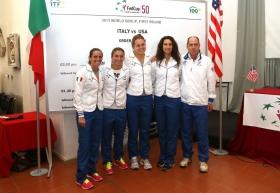 La squadra di Fed Cup italiana - Foto Costantini