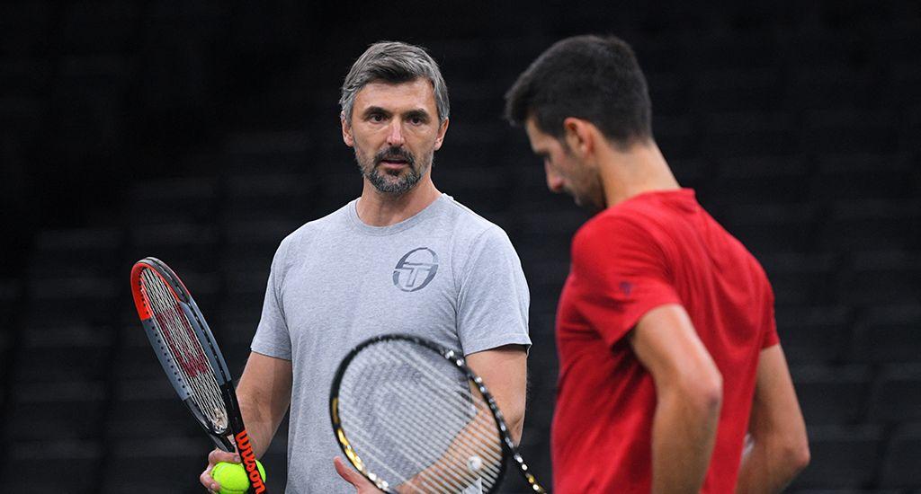 Goran Ivanisevic e Novak Djokovic