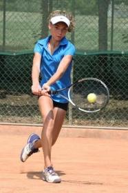 Julie Bousseau, francese classe 2003, ha vinto tutti i sei incontri disputati a Salò (foto Alvaro Maffeis).