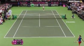 Angelique Kerber protagonista in negativo oggi nella finale di Fed Cup