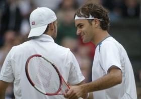 Nikolas Kiefer sorpreso da Roger Federer