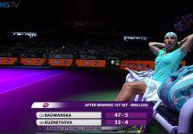 WTA Finals Singapore: Gruppo Bianco. Risultati Prima Giornata. Karolina Pliskova e Kuznetsova annullano un match point e vincono la partita (Video)