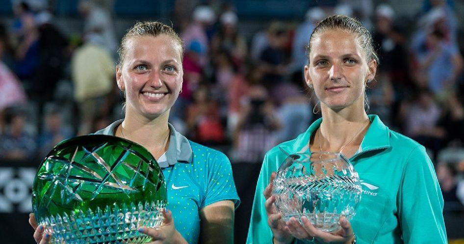 Petra Kvitova e Karolina Pliskova nella foto