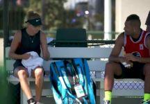 Nick Kyrgios si allena con la giovane Amanda Anisimova (VIDEO)