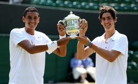 Nick Kyrgios e Thanasi Kokkinakis hanno vinto il doppio Juniores a Wimbledon 2013