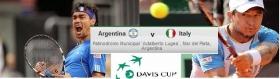 Livescore dettagliato dell'incontro di Davis Cup tra Argentina e Italia