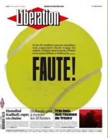 """""""Liberation"""" apre in prima pagina con il caso scommesse"""