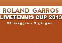 LiveTennis Cup 2013 – Roland Garros: Pronostici penultima giornata (chiusi). L'utente Game set and goal vince la giornata (classifica)