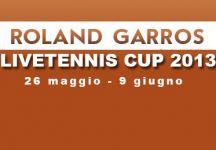 LiveTennis Cup 2013 – Roland Garros: Classifiche finali. Successo finale di A-Rod, BigLebowski vince l'ultima giornata. Il gioco riprenderà al torneo di Wimbledon!