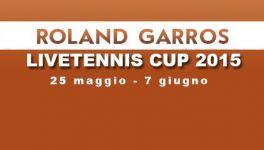 LiveTennis Cup 2015 – Roland Garros: Pronostici quarta giornata (chiusura oggi ore 11). L'utente Michele93 vince la seconda giornata (classifica)!