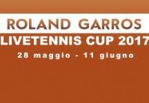 LiveTennis Cup 2017 – Roland Garros: Classifiche finali. Babaiaro vince la classifica genale, sospiridalmare l'ultima giornata! La prossima tappa è Wimbledon!