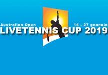 LiveTennis Cup 2019 – Aus Open: Pronostici della sesta giornata (chiusura sabato all'una di notte)