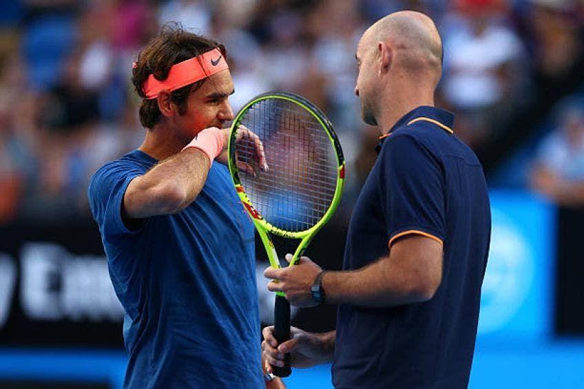 Roger Federer con Ivan Ljubicic nella foto