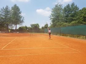 Paolo Lorenzi in allenamento al TC President