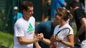 Andy Murray e Amelie Mauresmo