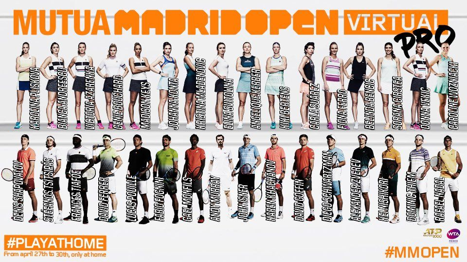 "Completato il ""cast"" del torneo Madrid Open Virtual"