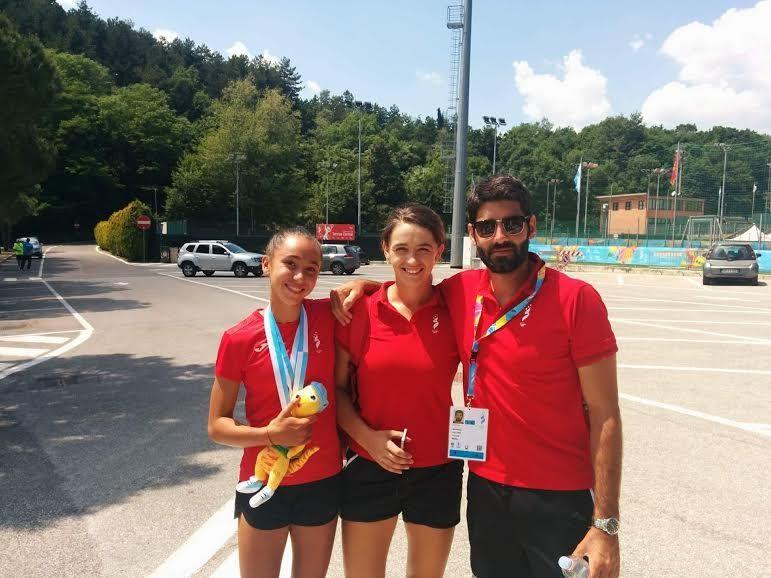 il team maltese con le medagliate Curmi e Genovese,