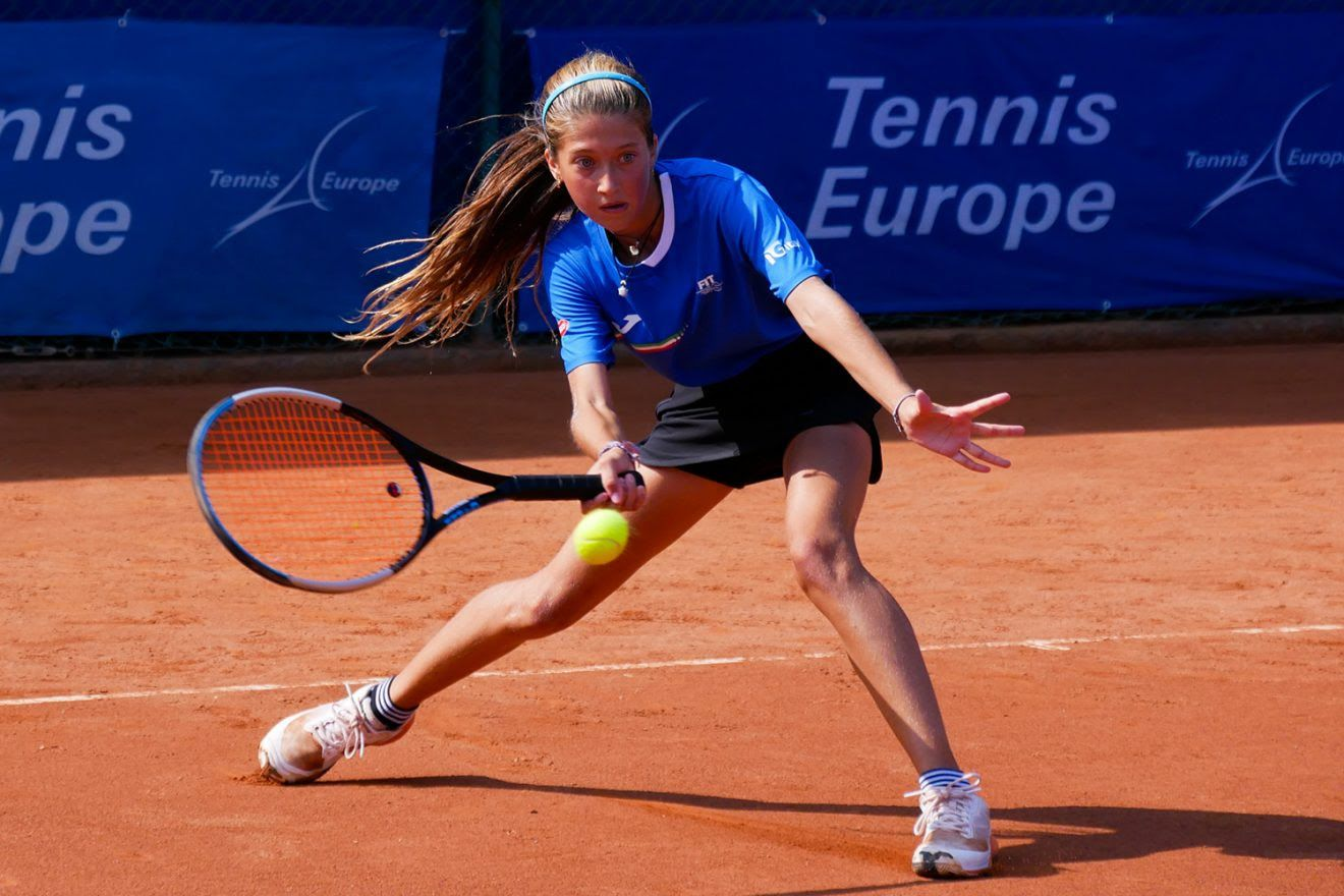 La dodicenne pugliese Carola Manfredonia, protagonista nel successo per 2-1 dell'Italia sulla Finlandia (foto Davide Castagna)