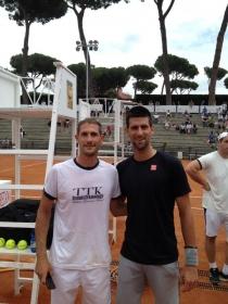 Marco Viola si è allenato con Novak Djokovic - Un Grazie al Circolo Tennis Lanciano