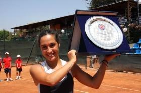 Nella foto Martina Trevisan dopo il successo nell'ITF di Roma