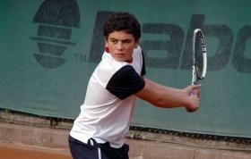 nella foto Sasha Merzetti classe 97 giovane promettente del tennis italiano