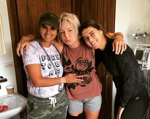 Bethanie Mattek Sands con Sorana Cirstea e Sania Mirza