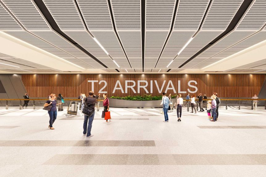 Il terminal dell'aeroporto di Melbourne