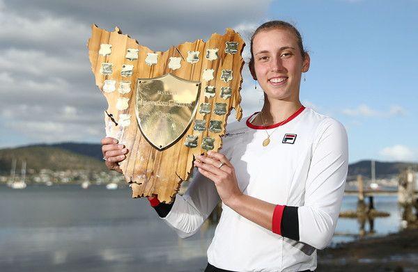 Elise Mertens nella foto vincitrice lo scorso anno proprio ad Hobart