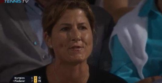 La moglie di Roger Federer fischia Kyrgios