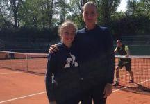 Kristina Mladenovic si allena con Sascha Bajin