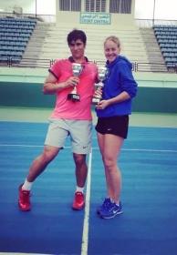 Gianmarco Moroni e Ludmilla Samsonova, classe 1998, hanno vinto l'Itf under 18 di Tunisi
