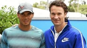 Carlos Moya con Rafael Nadal