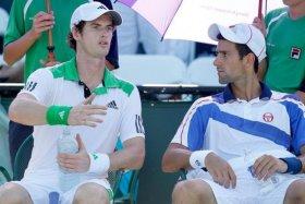 Djokovic e Murray fuori al primo turno nel torneo di doppio a Miami