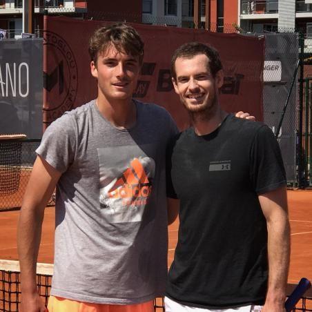 Andy Murray si prepara per Monte Carlo e si allena con il greco Stefanos Tsitsipas