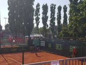 Lorenzo Musetti in azione sul Campo Centrale