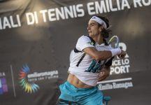 ATP Sardegna: Lorenzo Musetti si ritira in semifinale per un problema al gomito destro