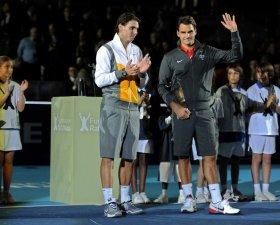 Federer e Nadal ancora in esibizione